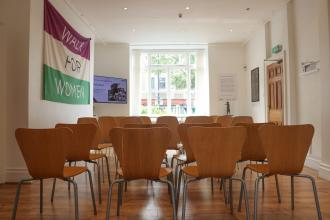 Image of our training room, set out for a conference